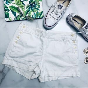 J Crew White City Fit Side Button Shorts 4